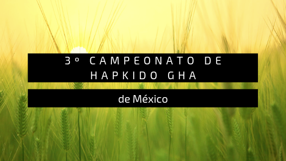 3º CAMPEONATO DE HAPKIDO GHA
