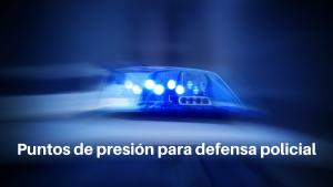 Puntos de presión para defensa policial